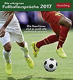 Die witzigsten Fußballersprüche - Kalender 2017 - Harenberg-Verlag - Postkartenkalender mit 12 heraustrennbaren Postkarten - 16 cm x 17,5 cm