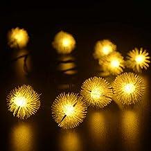 lederTEK Cadena de Luz LED con Energía Solar (4.6m 20LED) para Árbol de Navidad, Patio, Jardín, Terraza y Todas las Decoraciones (Blanco