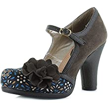 Ruby Shoo Hannah Olive Womens Hi Heels Shoes