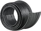dream audio Kabelschlauch Gewebe: Flexibler schwarzer 1,8m Kabelschlauch mit praktischem Klettverschluss (Kabelführung)