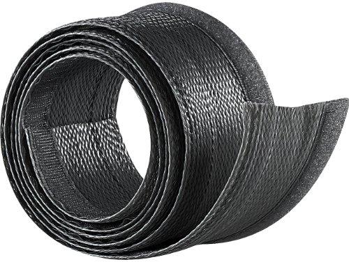 dream audio Kabelschlauch Gewebe: Flexibler schwarzer 1,8m Kabelschlauch mit praktischem Klettverschluss (Kabelschutzschlauch)