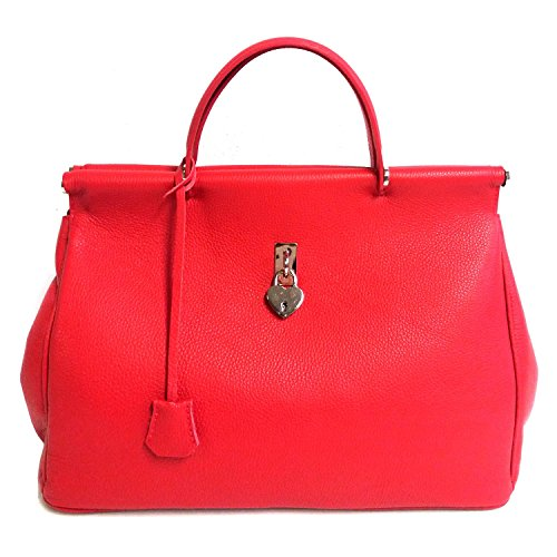 DEEP ROSE Borsa in Vera Pelle Donna Made in Italy a spalla mano shopper pelle con tracolla JANE