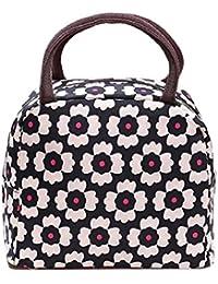 Ularma thermiques bande de toile multicolore pique-nique sac à Lunch boîte isolation Portable sac isotherme pour femmes enfants hommes enfants (coloré)