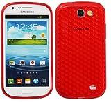 Luxburg Diamond Design funda protectora para Samsung Galaxy Express GT-i8730 en color rojo rubí,...