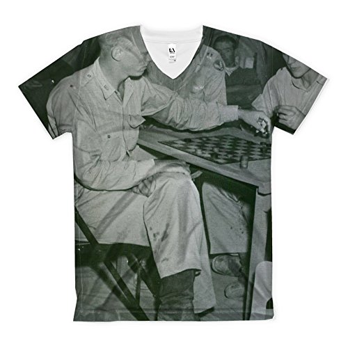t-shirt-with-at-us-army-air-force-base-in-africa-american-flyers-find-relaxation-in-their-tent-with-