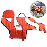 Petacc Hunde Schwimmweste Schweben Rettungsweste für Hunde Einstellbar Clownfisch Stil (M)