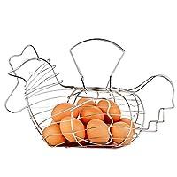 Skylink verchromtem Draht groß Huhn Korb Ei Aufbewahrungskorb