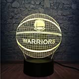 Mmzki Basketball Krieger Nba Logo Golden State 3D Nachtlicht 7 Farbwechsel Schlafzimmer Sport Decor Led Tischlampe Kind Geschenk Lampara