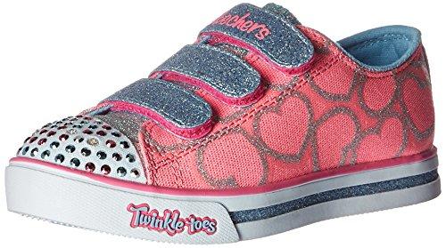 skechers-sparkle-glitz-heartsy-glam-sneakers-basses-fille-rose-pklb-28-eu
