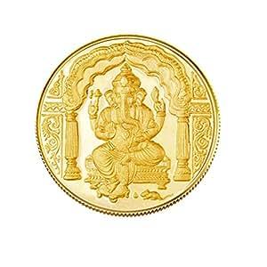 Gitanjali 5gm 24k (995)  Yellow Gold Ganesh Precious Coin
