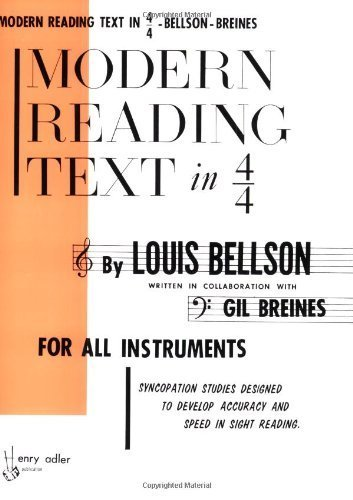 Modern Reading Text in 4/4: For All Instruments by Louis Bellson (1-Mar-2000) Paperback