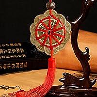 Caxmtu - Abalorio de la suerte, monedas antiguas, protección de la prosperidad, nudo chino simbólico.