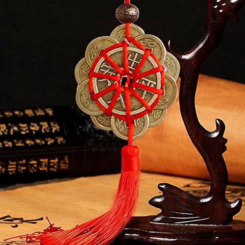 caxmtu amuleto Ancient monedas prosperidad protección chino nudo simbólico