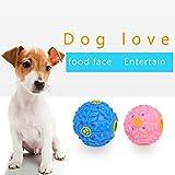 YUNI Balle Boule Sonore Distributeur Croquette Nourriture Jouet Boule de jouet pour Chien Animaux -couleur aleatoire--M size
