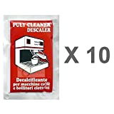 Puly Cleaner Descaler Espresso Coffee Machine 30g Sachet (Pack of 10)