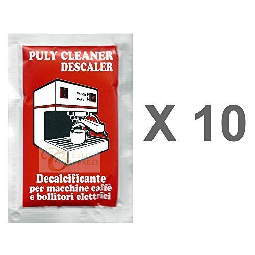 Puly Baby Cleaner Descaler Limescale Remover for Espresso Coffee Machines (10 x 30g)