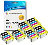 30 XL (6 SETS + 6 BLACK) Compatible Epson T1291-T1294 (T1295) Ink Cartridges for Stylus SX235W SX420W SX425W SX435W SX445W SX525WD SX535WD SX620FW Office B42WD BX305F BX305FW BX305FW Plus BX320FW BX525WD BX535WD BX625FWD BX630FW BX635FWD BX925FWD BX935FWD WorkForce WF-7015 WF-7515 WF-7525 - Black/Cyan/Magenta/Yellow, High Capacity
