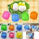Set von 6diffetent Cute Cartoon Eier Form Jelly Sushi Reis Formen Dekoration Form mit doppeltem Verwendungszweck