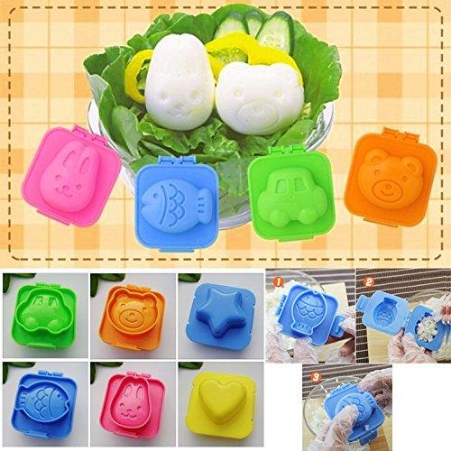 Produktbild Set von 6diffetent Cute Cartoon Eier Form Jelly Sushi Reis Formen Dekoration Form mit doppeltem Verwendungszweck
