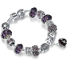 A TE® Charm Pulsera Mujer Los Beads de Cristal como Regalo de una Mujer #JW-B