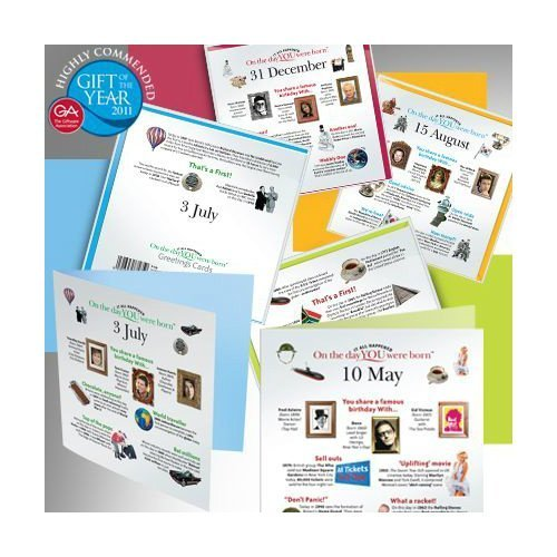 Day You Were Born Greetings Cards - 08 November by that company called if