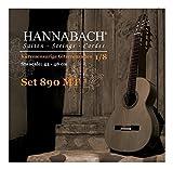 Hannabach 653057 - Juego de cuerdas para guitarra en Sol, 1/8 (tensión media)