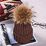 kyprx Women's Sun Hats Günstige Women's SunNatural Fur Boys 'Hats Herren Fu In BonnetFor Girlsc Coffee C