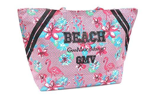 Borsa mare Gian Marco Venturi l.fiori donna moda mare 43425 rosa