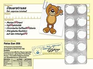 Dein (Traubenzucker)Rezept vom OBÄRarzt (Dauerstress)