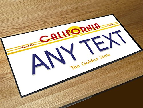 Personalisierter CALIFORNIA NUMMERNSCHILD Pub Bar Runner Zähler