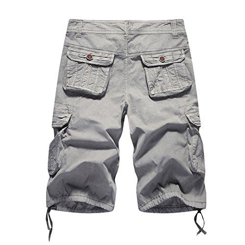 TIMEMEAN Cargo Shorts Herren Baumwolle Beiläufig Tasche Kurz Gerade Hose Hose Jog Set
