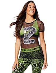 Zumba Fitness Keep It Cool T-Shirt Femme Back to Black FR : M (Taille Fabricant : M)