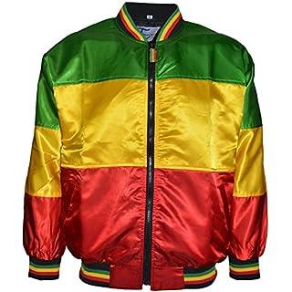 Trendy World Herren Jacke grün olivgrün M Gr. L, Red-Goldon-Green