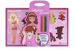 Dinova - Princess Top Paper Dolls, labores para niños (D0948001)