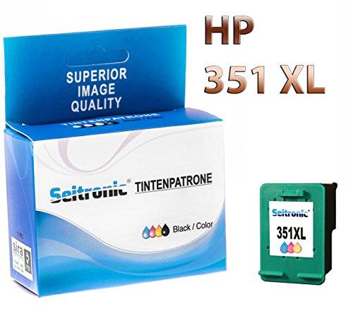 Preisvergleich Produktbild 1x Drucker Patrone Seitronic für HP 351XL Farbig Photosmart: C4493 C4494 C4500