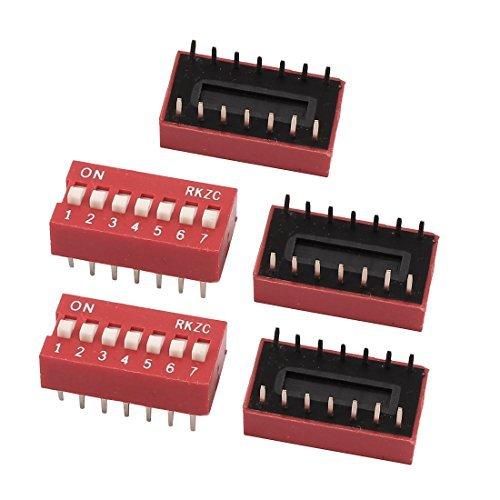 DealMux 5PCS 2,54 mm paso 14 Terminales 7 posiciones