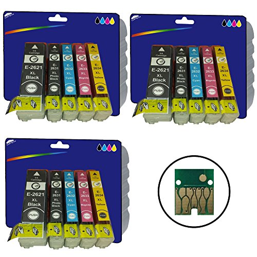 3 Sets of High Capacity Compatible (non-original) Ink Cartridges for Epson Expression Premium XP-510, XP-520, XP-600, XP-605, XP-610, XP-615, XP-620, XP-625, XP-700, XP-710, XP-720, XP-800, XP-810, XP-820