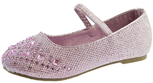 Lora Dora GIRLS KIDS CHILDRENS BALLET PUMPS MARY JANE GLITTER DIAMANTE BRIDESMAID WEDDING PARTY SHOES SIZE UK 4-10