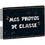 Exacompta - 16010E - Album Photos à Spirales pour Photos de Classe - 50 Pages Noires - 32 x 22 cm - Noir