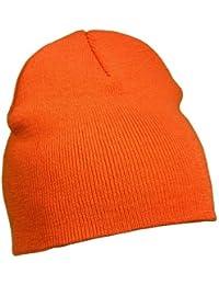 Beanie / Strickmütze, viele Farben Orange