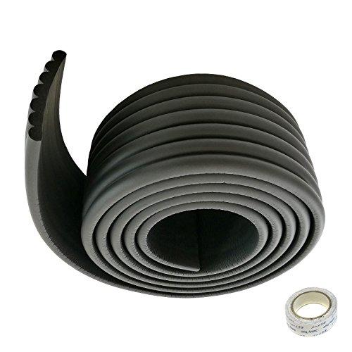 TUKA Universel Rouleau en Mousse, 200cm x 80mm x 8mm, Epaissir Mousse Antichoc Sécurité épreuvage pour Bébé/Enfants Kits. Tout Usage Anti-Crash Protection, Souple et Flexible, Noir, TKD7002 black