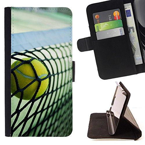 Graphic4You Tennis Ball Sport Brieftasche Leder Dünn Hülle Tasche Schale Schutzhülle für Apple iPhone XS Max -
