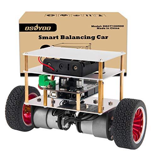 OSOYOO RC Zweirad-Selbstbalancierendes Roboter-Auto-Kit für Arduino UNO R3 DIY Programmierbares Starter-Set, Bluetooth-Fernbedienung durch Android Smart Phone -