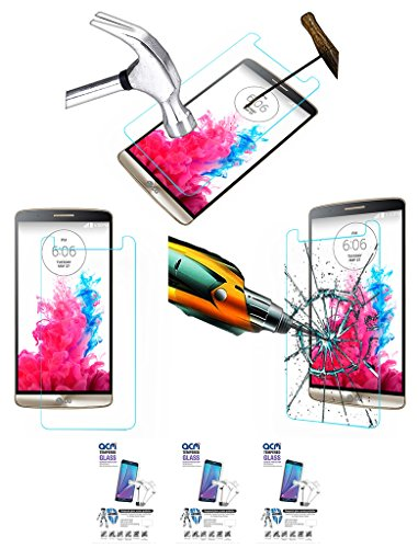 Acm Pack Of 3 Tempered Glass Screenguard For Lg G3 D855 Mobile Screen Guard Scratch Protector  available at amazon for Rs.279