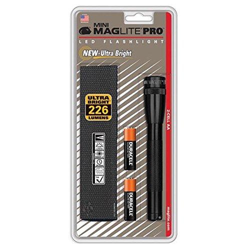 Mag-Lite Mini Pro LED Taschenlampe, 332 Lumen, ANSI Standard getest, schwarz SP2P01H