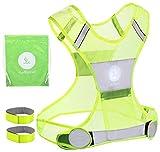 Chaleco reflectante para Unisex con bolsillo 2Bandas Reflectantes De Seguridad Libre 3m, amarillo