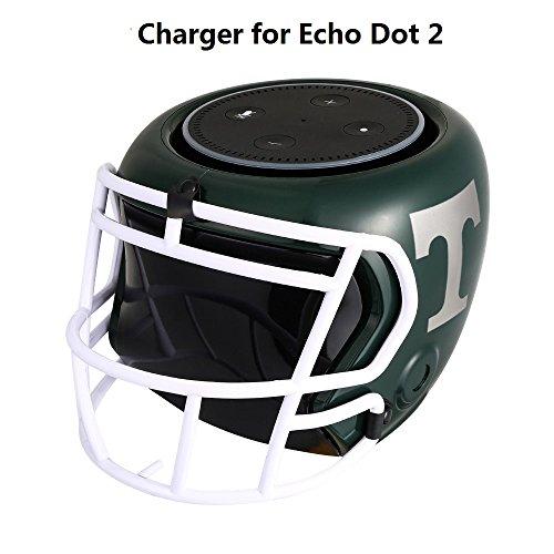 Akku für Echo Dot 2, COOSA intelligente und tragbare 5400 mAh Batterie Power Bank Batteriestation Rugby Hat Style für die 2. Generation des Echo Dot