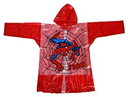Tarun Traders Rainwear Unisex Rubber Raincoat (Red, 6-7 Years)