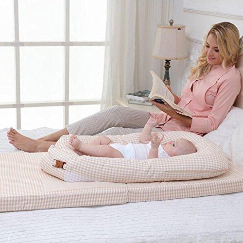 LJHA Oreillers d'alimentation Lit dans Le lit Lit portatif Apaisez Le lit Tapis Anti-étouffement de Lait Anti-étouffement de bébé 2 Couleurs Disponibles Oreillers d'allaitement ( Color : B )