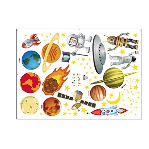 Super Peel (Artibetter Super Space Explorer Dekorative Peel & Stick Wandkunst Aufkleber Decals für Zuhause Kinderzimmer (50x70 cm))